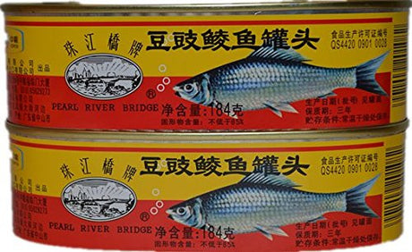 3 Pcs Canned Fried Fish With Salted Black Bean 184g (豆豉鲮鱼罐头)