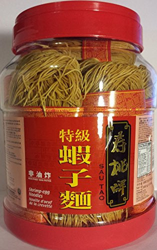 1 BOX OF SAU TAO BRAND CHINESE NOODLES NON-FRIED/SHRIMP-EGG FLAVOR