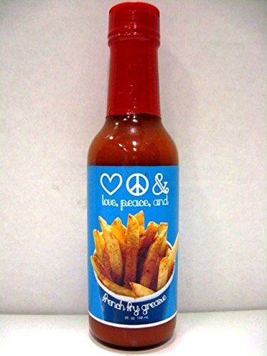 Love, Peace And French Fry Grease Hot Sauce - (Single 5 Oz. Bottle)