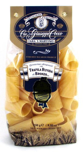 Giuseppe Cocco (6 pack) Paccheri Pasta hand-made slow dried 250g bags from Italy