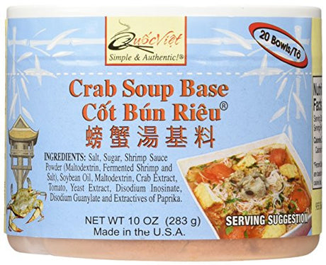Quoc Viet Foods Crab Flavored Soup Base, 10 oz jar (1 unit)