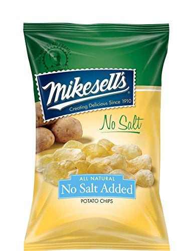 Mikesell's 9.5 oz. No Salt Potato Chips - 1 case of 6 bags