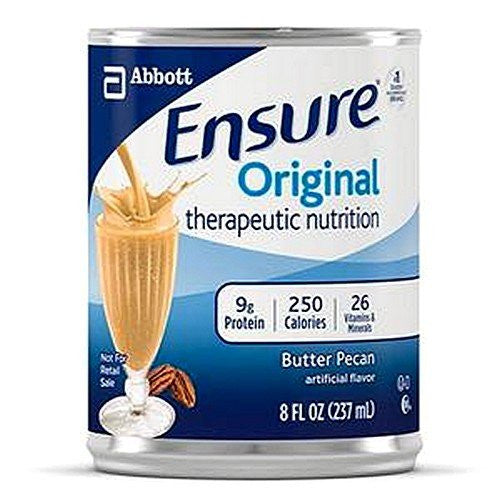 Abbott-Ensure Original Complete Therapeutic Nutrition, Butter Pecan Flavor, 8 Fl Oz Can - Model 51982 (Sold by 1/Can)
