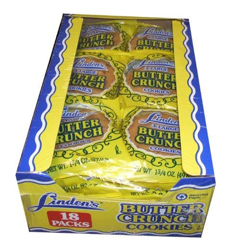 Linden's Butter Crunch Cookies 3 Cookies Per Pack (18-1.75oz. Packs Per Box)
