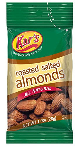 Kar's Nuts Salted Almonds, 1-Ounce Bags (Pack of 100)