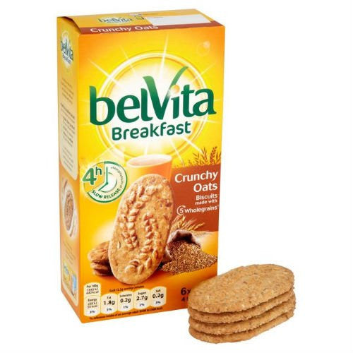 Belvita Breakfast Biscuits Crunchy Oats 6 X 50G Case Of 4