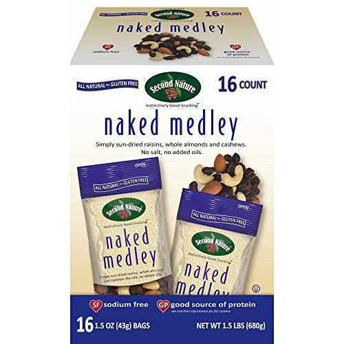 Second Nature Naked Medley, 16 pk./1.5 oz. (pack of 6)