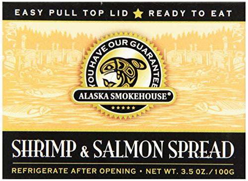 Alaska Smokehouse Shrimp & Salmon Spread Serving Design, 3.5 Ounce Boxes (Pack of 6)