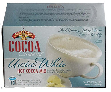 LAND O LAKES Cocoa Single Serve K Cups - Arctic White 10 Cup Box