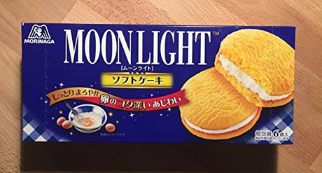 (Pack of 2) Morinaga Moon Light Soft Cake, with Vanilla Cream 162g