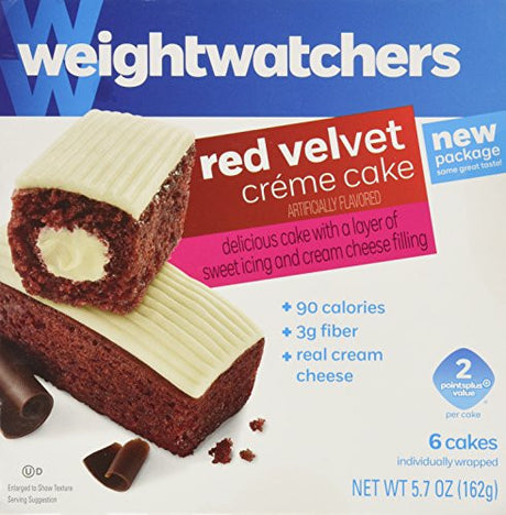 Weight Watchers Red Velvet 6 Creme Cakes- 4 Pack