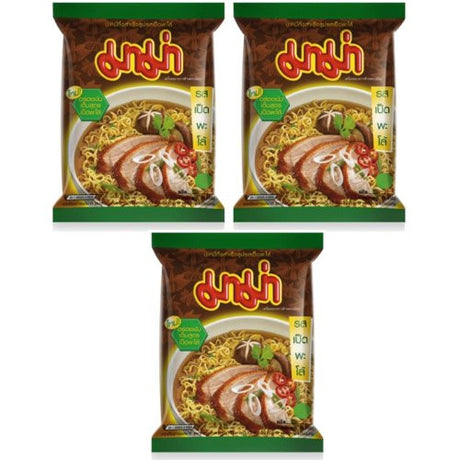 MAMA Brand Thai Instant Noodles Pa-Lo Duck Flavour (Pack of 3)