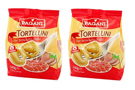 Pagani: Set of 2 Envelopes of Dried Tortellini with Meat - 500 Gr (17.6 Oz) Each [ Italian Import ]