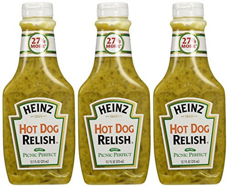 Heinz Hot Dog Relish - Three Pack