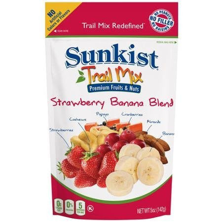 Sunkist Trail Mix Redefined Strawberry Banana Blend 5 oz