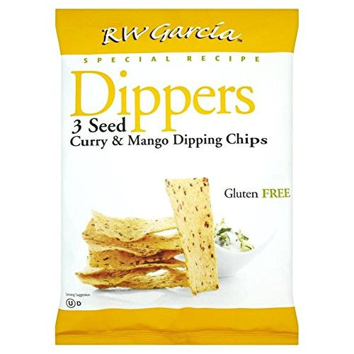 RW Garcia 3 Seed Curry & Mango Dipping Chips 170g (Pack of 2)