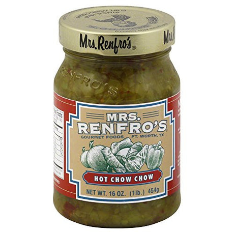 Mrs. Renfro's Chow Chow Hot 16.0 OZ(Pack of 3)