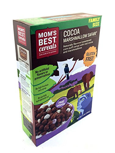 Mom's Best Cereal Cocoa Marshmallow Safari Cereal, 14 Ounces Pack