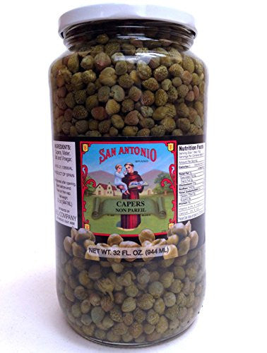 32 Oz Imported Non Pareil Capers in Vinegar and Salt Brine