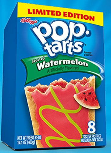 Kellogg's, Pop-Tarts, Limited Edition, Frosted Watermelon Toaster Pastries, 8 Count, 14.1oz Box (Pack of 6)