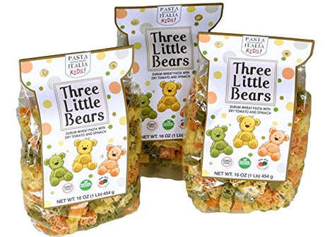Pasta Gourmet Italia Fun Imported Italian Pasta Shapes For Kids Three Little Bears, , 3 x 17.6 oz / 500g