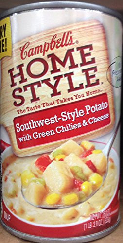 Campbell's Homestyle Southwest-Style Potato with Green Chilies & Cheese Soup 18.8oz. (Pack of 8)