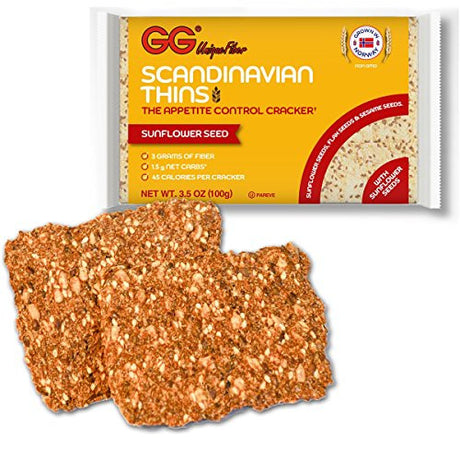 "GG Bran ""Scandinavian Thins"" with Sunflower Seeds - 2 Pack"