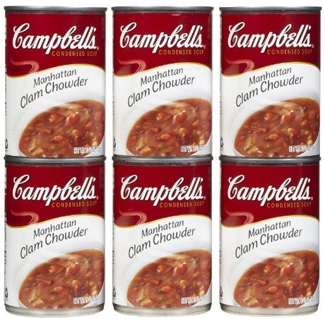 Campbell's Manhatten Clam Chowder, 10.75 oz, 6 pk