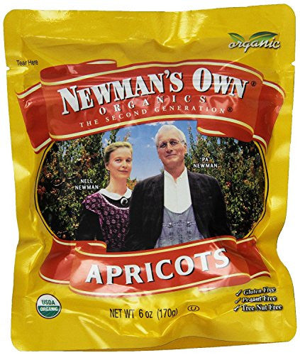 (Pack of 6) Organic Dried Apricots - Newman's Own Organics, 6-Ounce Per Pack