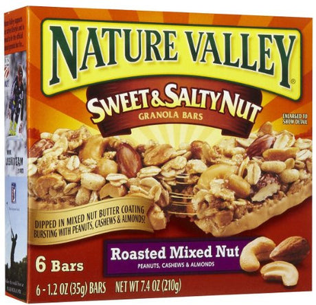 Nature Valley Sweet & Salty Mixed Nut Granola Bars, 6 ct
