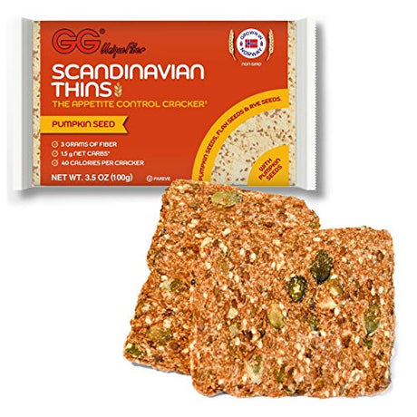 "GG Bran ""Scandinavian Thins"" with Pumpkin Seeds - 2 Pack"