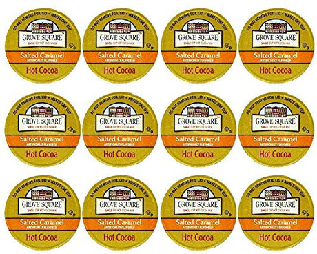 Grove Square Salted Caramel Hot Cocoa, 12 Single Serve Cups by Samplers