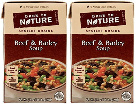 Back to Nature Soup-Beef and Barley-17.4 Oz-2 Pack