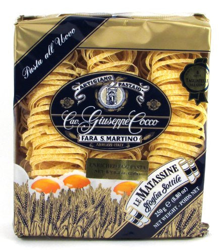Giuseppe Cocco (6 pack) Tagliatelle Egg Pasta hand-made slow dried 250g bags from Italy