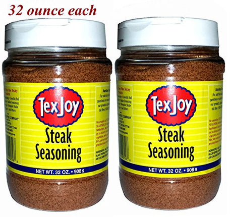 TexJoy Steak Seasoning Original Recipe 32oz 2-Pack (64 Total Ounces, 4 Pounds of Goodness)