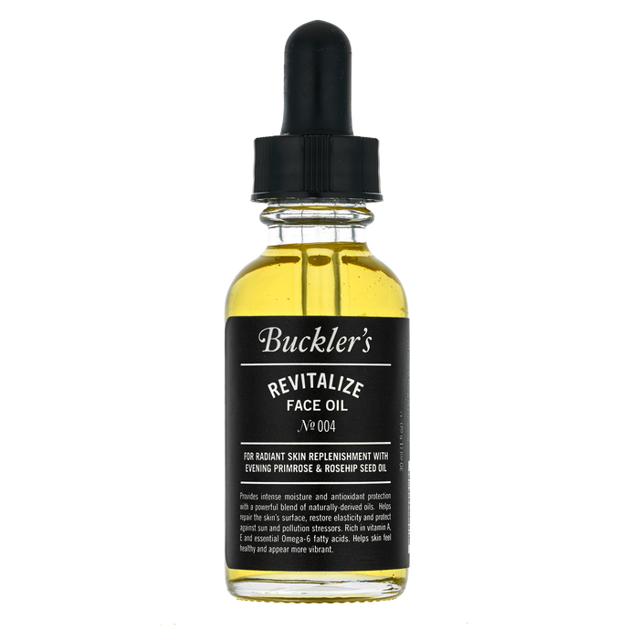 Buckler's intense moisture and antioxidant protection Revitalize Face Oil