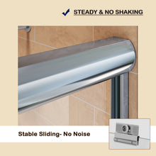 "Load image into Gallery viewer, Sunny Shower Semi-Frameless Bypass 2 Way Sliding Bathtub Door,  1/4"" Clear Glass, Chrome Finish B020-6062CC - SUNNY SHOWER"