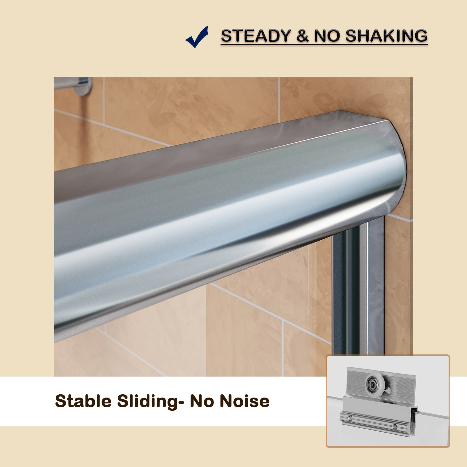 Sunny Shower Classical Bypass Sliding Bathtub Doors Top Seller B020 Series in Chrome Finish - SUNNY SHOWER