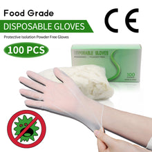 Load image into Gallery viewer, 100Pcs Disposable  Gloves  Protection Powdered - SUNNY SHOWER