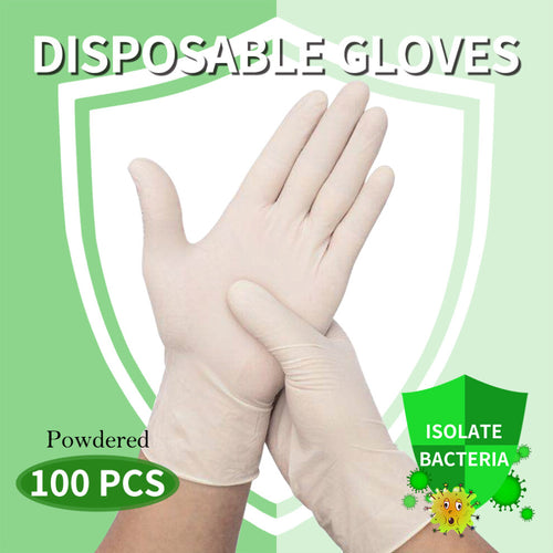 100Pcs Disposable Gloves Powdered Protection - SUNNY SHOWER