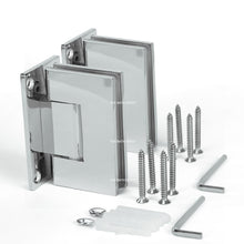 Load image into Gallery viewer, Sunny Shower Frameless Shower Door Hinge and Pull Handle Set Polished Chrome Stainless Steel SH-CH-90x2+PH-CH-6x1 - SUNNY SHOWER