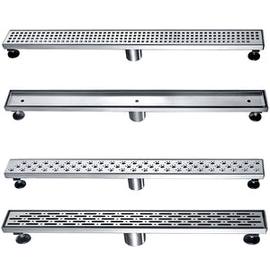 "Dawn 32"" Long Modern Bathroom Stainless Steel Linear Shower Drain various design - SUNNY SHOWER"