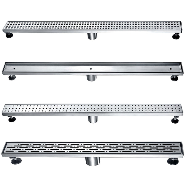 Dawn Bathroom Extra Long 304 Stainless Steel Floor Linear Shower Drain 36 Inch
