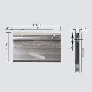 SUNNY SHOWER Shower Door Top Bracket and Roller 2-Pack - SUNNY SHOWER