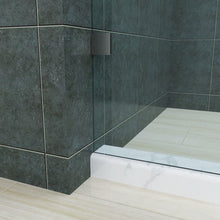 Load image into Gallery viewer, SUNNY SHOWER Corner Shower Enlosure Frameless Sliding Glass Shower Doors, Two 3/8 in. Clear Glass Panels & One 3/8 in. Side Glass, 60 in. W x 32 in. D x 72 in. H Brushed Stainless Steel Corner Shower - SUNNY SHOWER