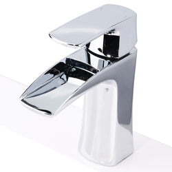 Sunny Shower Waterfall Faucet Bathroom Basin Tub Sink Mixer Tap Single Handle Chrome Finish U-WF001