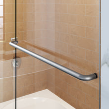 Load image into Gallery viewer, Sunny Shower Semi-Frameless Bypass Sliding Bathtub Doors B020 Series in Brushed Nickel Finish - SUNNY SHOWER