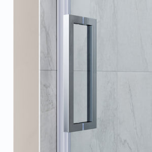 "SUNNY SHOWER B038 Frameless Bathtub Glass Door 5/16"" Clear Glass Shower Door with Chrome Finish 60"" W X 62"" H Sliding Shower Enclosure - SUNNY SHOWER"
