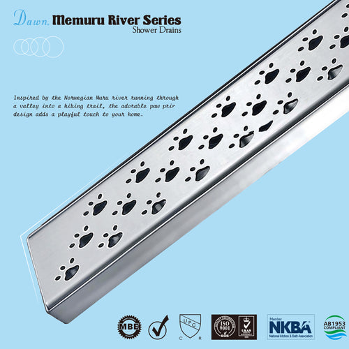 Dawn Stainless Steel Linear Shower Drains 32in. LMU320304 Brisbane River Series - SUNNY SHOWER