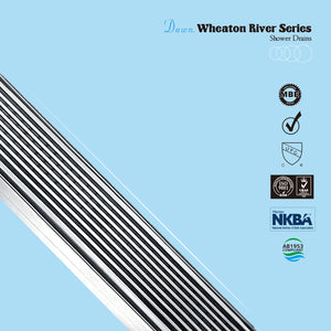 Dawn Stainless Steel Linear Shower Drains 24in. LWN240304 Brisbane River Series - SUNNY SHOWER